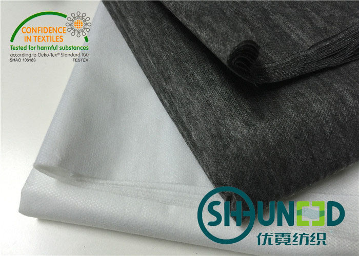 80% Nylon / 20% Polyester Non Woven Interlining Fabric With Soft Handfeeling