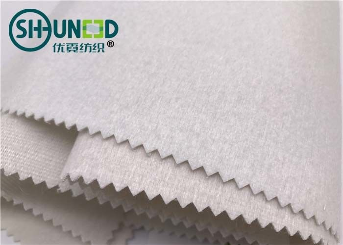 100% Polyester Plain Weave Woven Tie Interlining Fabric Single Side Brushed