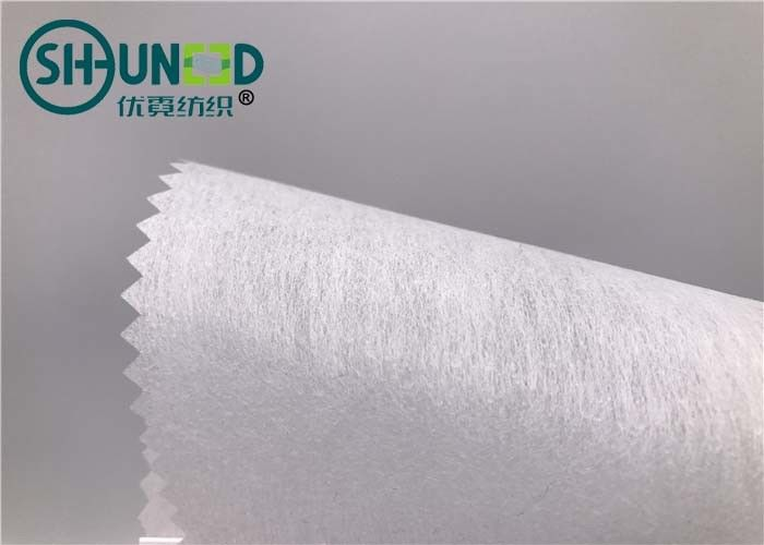 Fusible Embroidery Backing Fabric 100% Polyester Cuttable With LDPE Coating