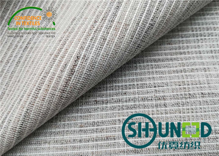 Anti - Pull Horse Hair Interlining Fabric Medium Weight For Suit And Overcoat