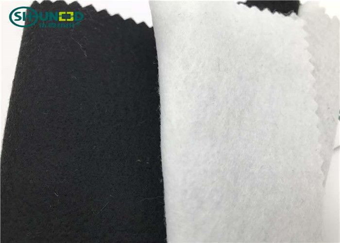 Black Polyester Needle Punch Nonwoven Felt For Breast Canvas 100cm / 150cm Width
