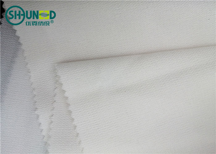 PA / PES Coating Fusible Interfacing 100% Polyester Double Dot Woven For Women And Men Suits